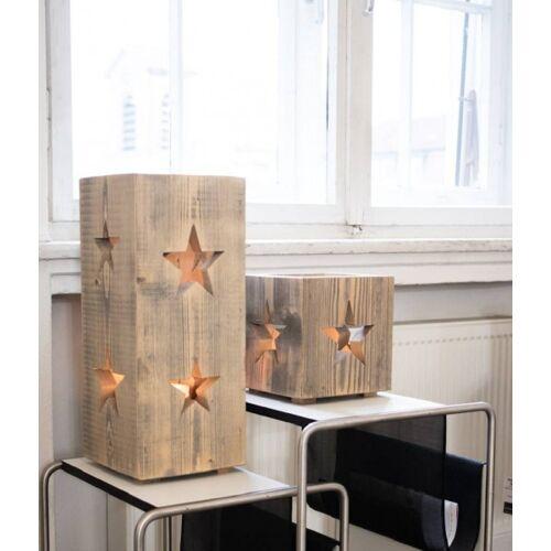 WMG Holz-Windlicht Altholz Stern 22 cm
