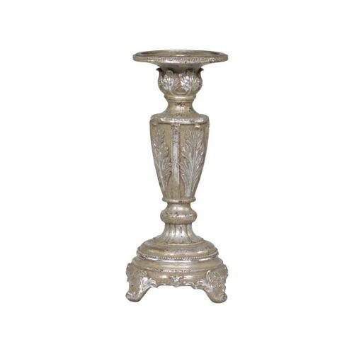 Antique Französischer Vintage Kerzenständer H 25 cm