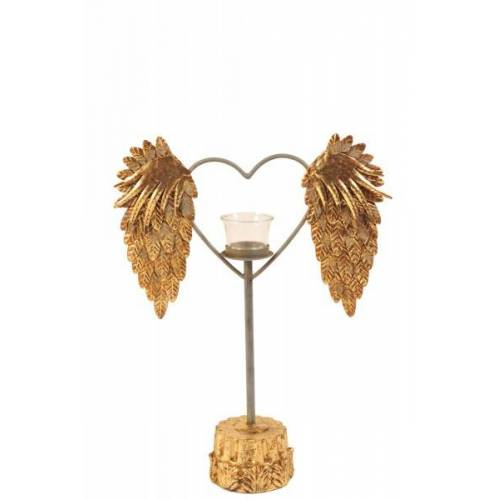 + Herz Teelicht auf Sockel H: 40,6 cm