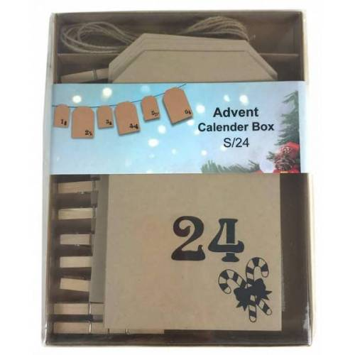 + Papier-Adventskalender in Box
