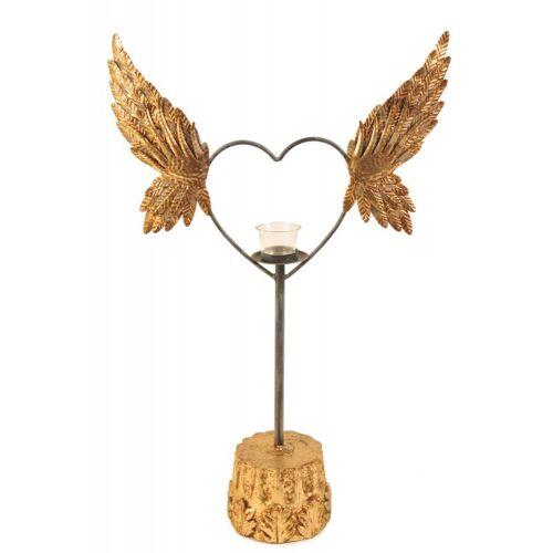 + Herz Teelicht auf Sockel H: 68,5 cm