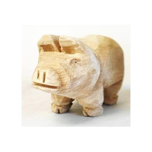 WMG Glücksschwein aus Holz - Höhe 20 cm
