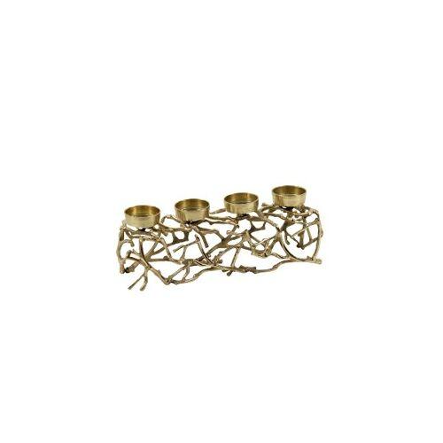 + Astleuchter mit 4 Kerzenhalter, gold