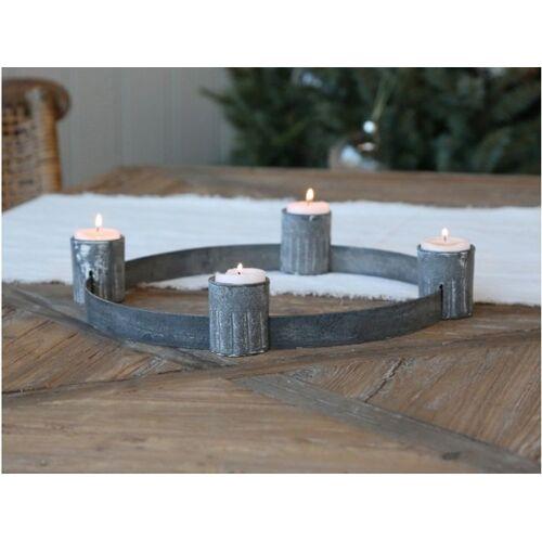 Antique Advent Kerzenhalter antik + Teelichthalter