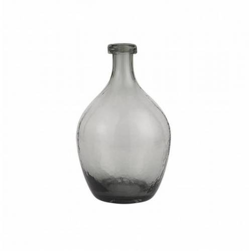 IB laursen Bauchige Glasvase grau mundgeblasen Höhe 28 cm, Ø 17 cm