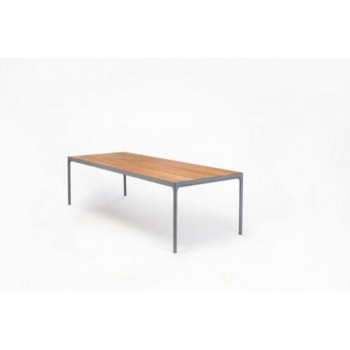 HOUE Outdoor Esstisch Four L: 270 cm - graues Tischbein - Click