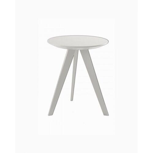 Möller Design Beistelltisch Woody Hill 60cm kristallweis