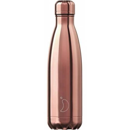 Chilly Bottle Thermosflasche Metall Chrome Rosé Gold 500ml