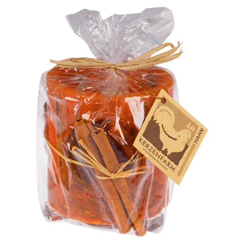 Kerzenfarm Hurrican Kerze Apfel orange