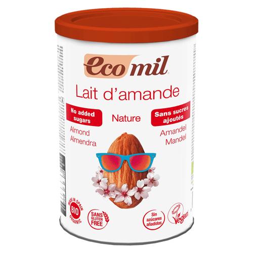 EcoMil Bio Mandeldrink Pulver ohne Zuckerzusatz
