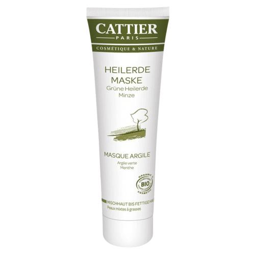 Cattier Grüne Heilerde Maske für Misch- bis fettige Haut, 100 ml