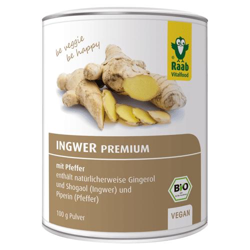 Raab Vitalfood Bio Ingwer Premium Pulver mit Pfeffer
