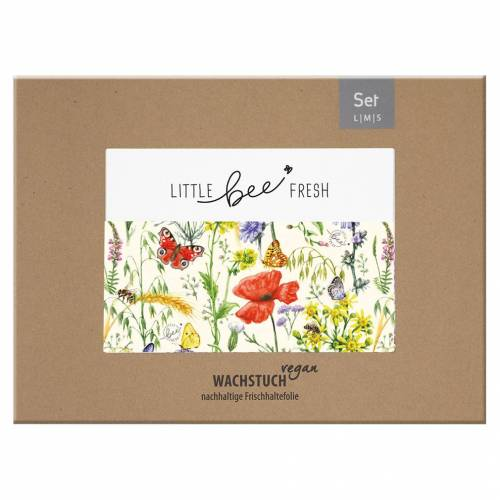 Little Bee Fresh Wachstuch-Set S/M/L, Vegan