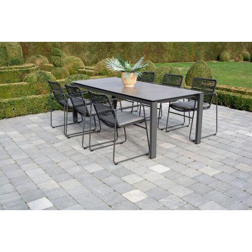 Gartella Moderner Gartentisch HPL mit Aluminium