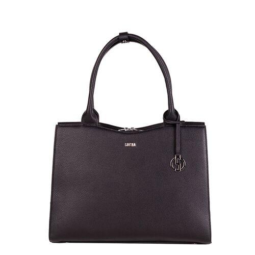 Socha Business bag Midi, Laptoptasche 13.3 Zoll für Damen -Deep Black