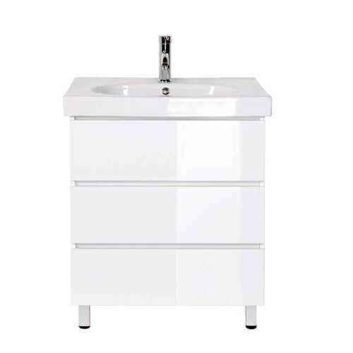 Pharao24.de Waschschrank mit Einlass-Waschbecken Weiß