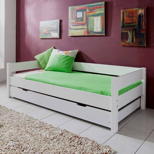 Pharao24.de Kinderbett mit Gästebett Weiß