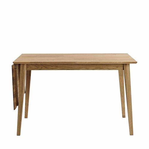 Pharao24.de Holztisch aus Eiche massiv verlängerbar