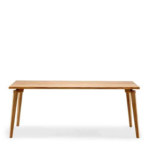 Pharao24.de Holztisch aus Eiche Massivholz 90 cm tief