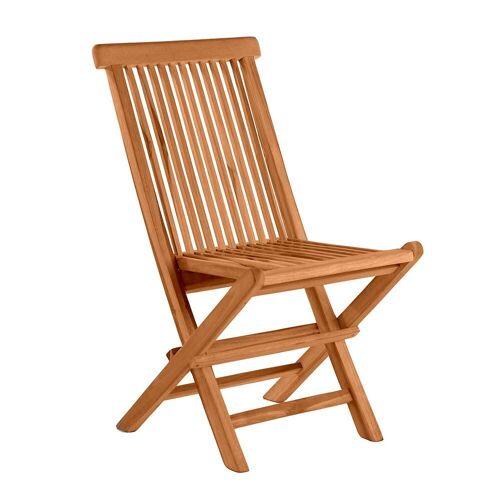 Pharao24.de Balkonstühle aus Teak Massivholz klappbar (2er Set)