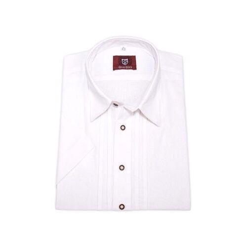 OS-Trachten Trachtenhemd kurzarm weiß 111065