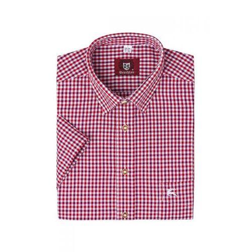 OS-Trachten Trachtenhemd kurzarm rot kariert 112625