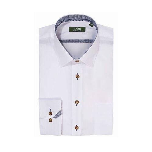 arido Trachtenhemd langarm weiß Mike 009140