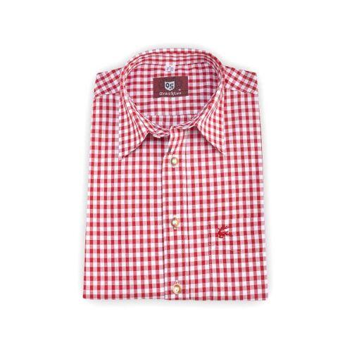 OS-Trachten Trachtenhemd kurzarm rot kariert 111735