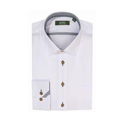 arido Trachtenhemd langarm weiß Mike 009141