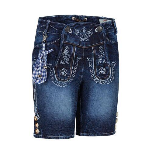 Lekra Kinder Trachtenhose Jeans kurz blau 140076