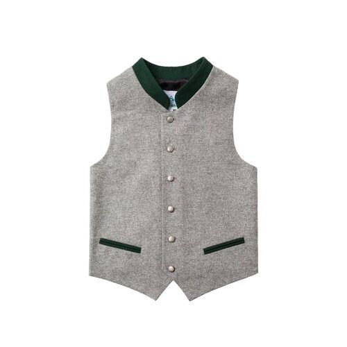 Isar Trachten Kinder Trachtenweste grau grün 004048