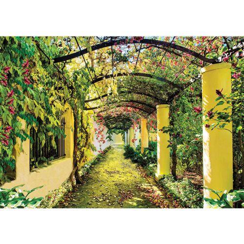 liwwing (R) Fototapete Pflanzen Tapete Garten Weinblätter Pflanze Säulen grün Garten Blumen grün   no. 333 Fototapete Vlies - PREMIUM PLUS 368x254 cm