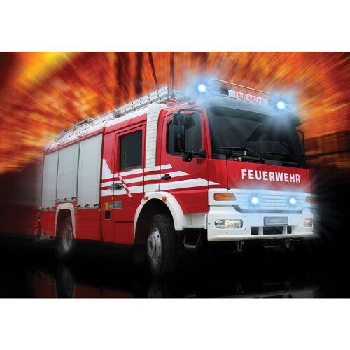 liwwing (R) Fototapete Autos Tapete Feuerwehr Feuerwehrauto Auto Blaulicht rot   no. 2242 Fototapete Papier - PREMIUM Blue Back 254x184 cm
