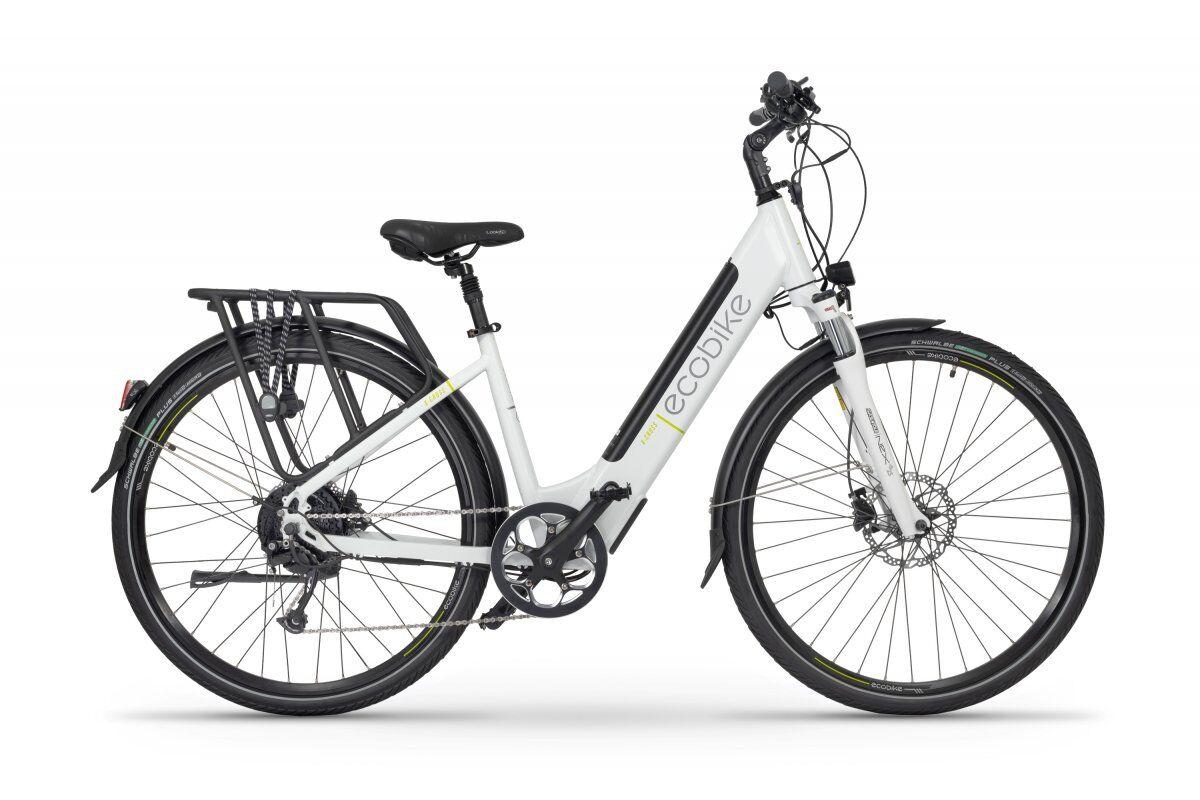 Ecobike E Bike Damen 28 Zoll Tiefeinsteiger Ecobike X-cross Weiss 468Wh