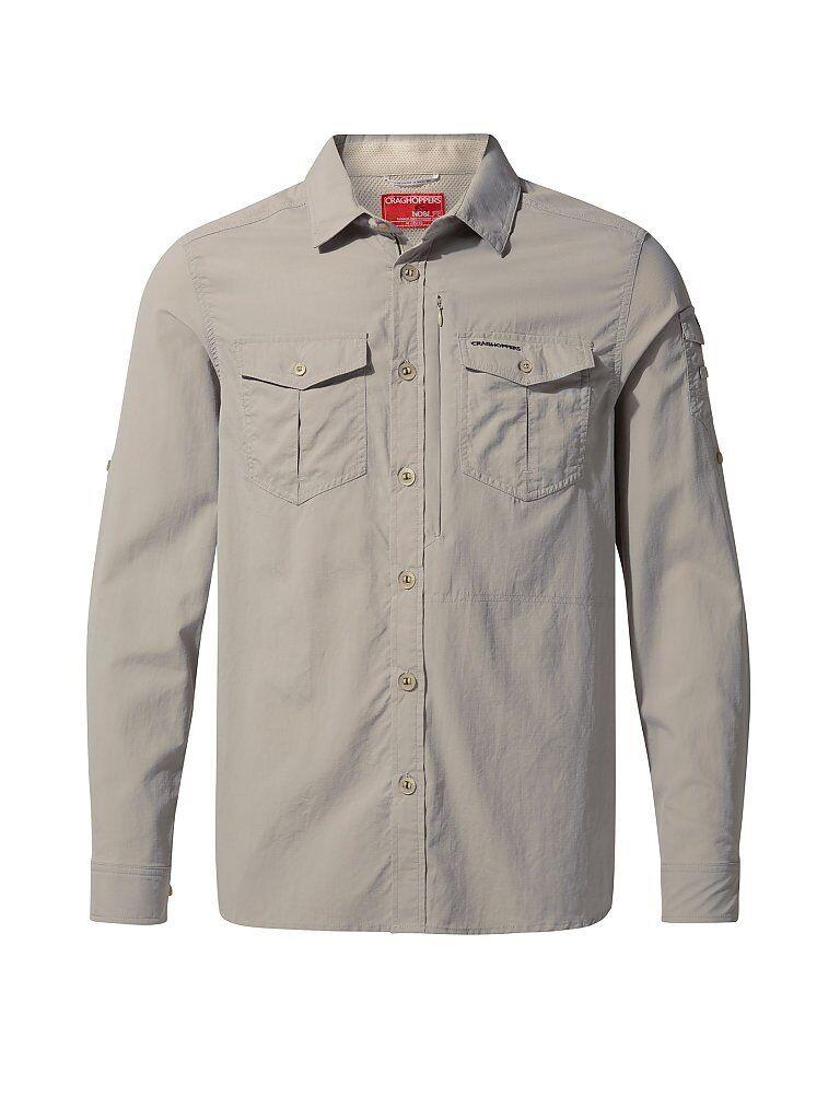 CRAGHOPPERS Herren Outdoorhemd Adventure NosiLife LS creme   Größe: M   CMS605