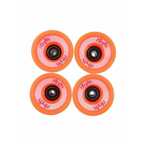 AREA Longboard Wheels 4er Set orange   AR-691