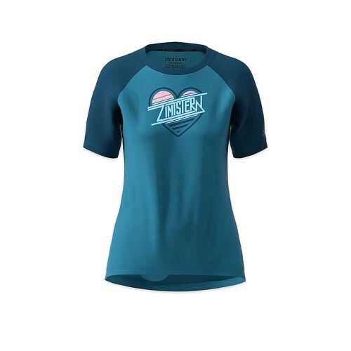 ZIMTSTERN Damen Radshirt Heartz blau   Größe: M   W20022