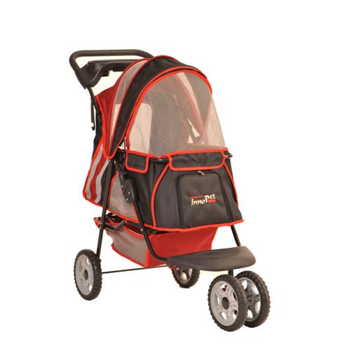 InnoPet® buggy All Terrain Hundewagen Fahrrad Hundebuggy Anhänger red/black