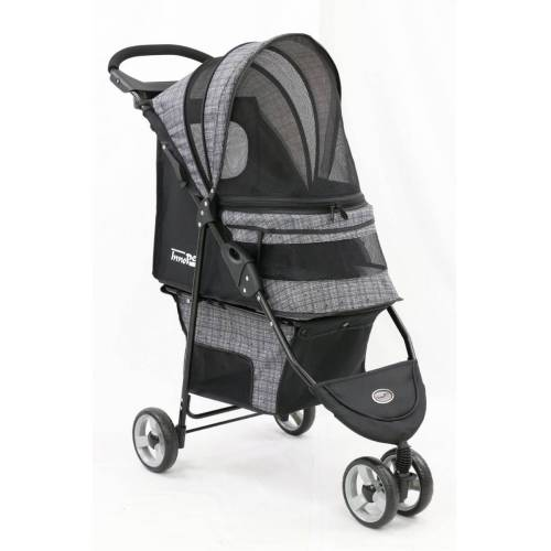 InnoPet ® buggy Avenue - IPS-033/BG - grau gemustert - inkl. Regenhaube Hundebu