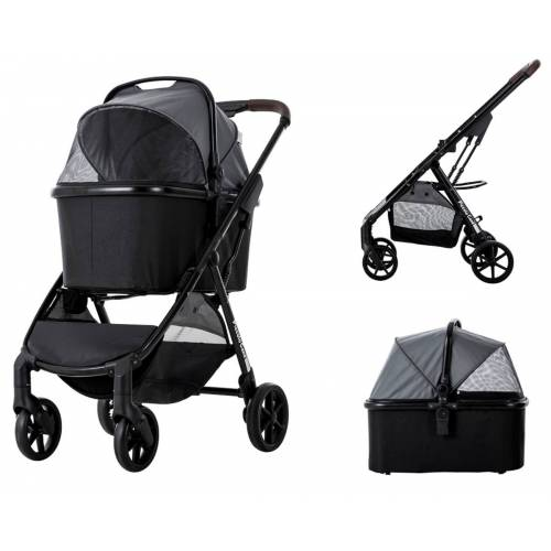 InnoPet Piccolo Cane Hundebuggy Eco - grau schwarz -DG618-BBG Vertrieb: InnoPet ®