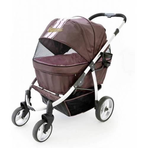 InnoPet® buggy Retro Hundebuggy Hundewagen Pet Stroller mit Aluminium Rahmen- b