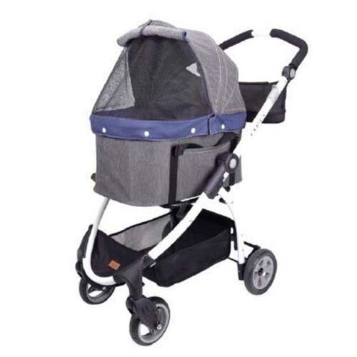 InnoPet® buggy Cleo Hundebuggy Pet Stroller Hundewagen Denim look