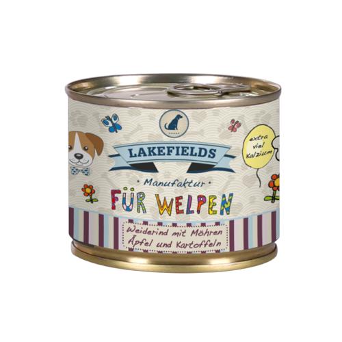 Lakefields Dosenfleisch-Menü Welpen Nassfutter Rind 6 x 200 g