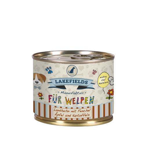 Lakefields Dosenfleisch-Menü Welpen Nassfutter Huhn 6 x 200 g