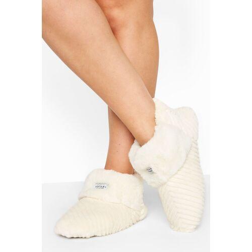 Weiße vegane fell hausschuh boots, passform regular fit