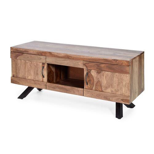 MÖBEL IDEAL Lowboard 135 x 43 x 58 cm Sheesham Massivholz