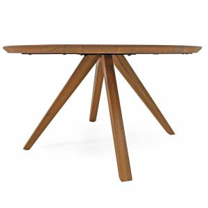 MÖBEL IDEAL Couchtisch Reno aus Eiche Massivholz Rund 110 cm