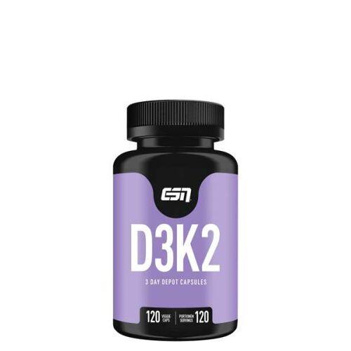 Fitmart GmbH und Co. KG ESN Vitamin D3+K2, 120 Vegy Kapseln