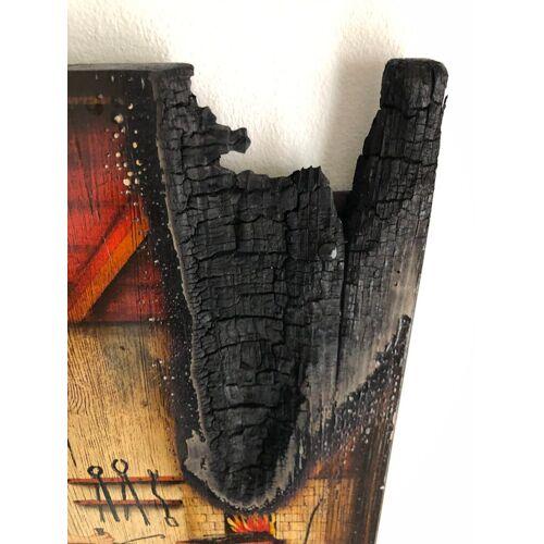 Bild Kunstwerk Gemälde FireArt Holzkunst Handwerker Schmied