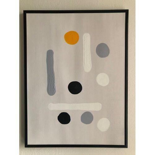 Bild Kunstwerk Gemälde auf Leinwand Punkte unikat 30 x 40